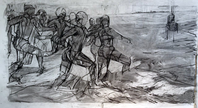 sketch by Melbourne artist Rebecca Jones
