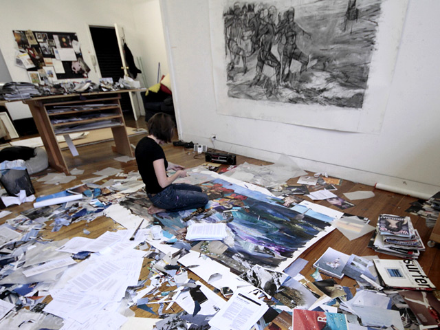 Melbourne artist Rebecca Jones at her studio