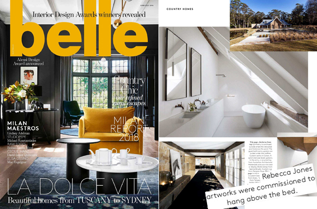 cover and internal page of Belle magazine