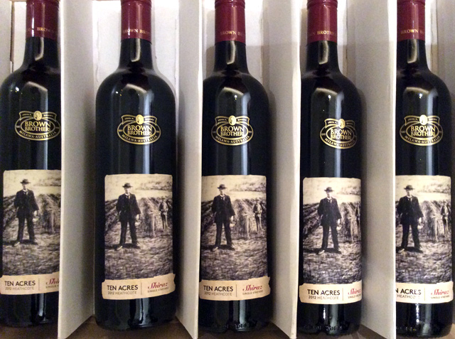 wine bottles with labels displaying a drawing by Melbourne artist Rebecca Jones