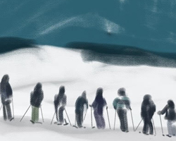 Melbourne artist Rebecca Jones - Digital - Snow (8)