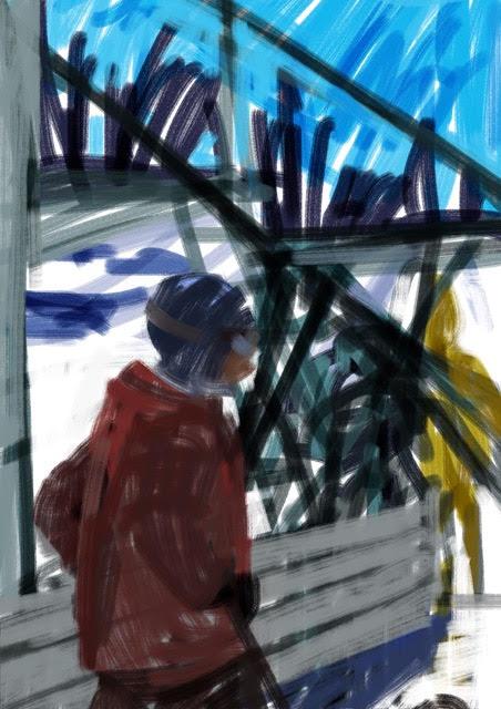 Melbourne artist Rebecca Jones - Artwork - Digital - Snow (2)