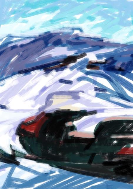 Melbourne artist Rebecca Jones - Artwork - Digital - Snow (4)