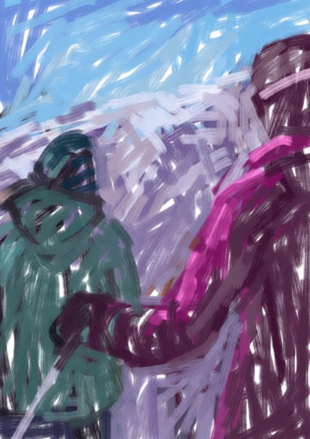 Melbourne artist Rebecca Jones - Artwork - Digital - Snow (5)