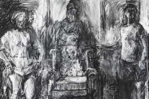 Melbourne artist Rebecca Jones - Artwork - Drawing - Seated