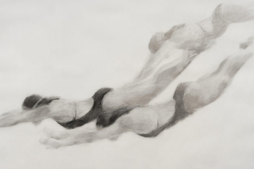 Melbourne artist Rebecca Jones - Artwork - Drawing - Swimming