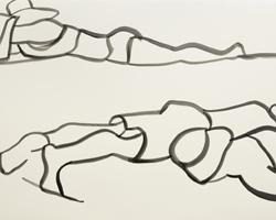 Melbourne artist Rebecca Jones - Artwork - Drawing - Coast - Catching Rays
