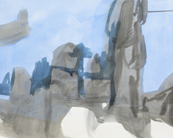Melbourne artist Rebecca Jones - Artwork - Drawing - Coast - Layback