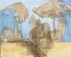 Melbourne artist Rebecca Jones - Artwork - Drawing - Coast - Scorcher