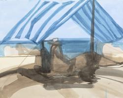 Melbourne artist Rebecca Jones - Artwork - Drawing - Coast - Sunshade