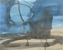 Melbourne artist Rebecca Jones - Artwork - Drawing - Coast - Umbrella II