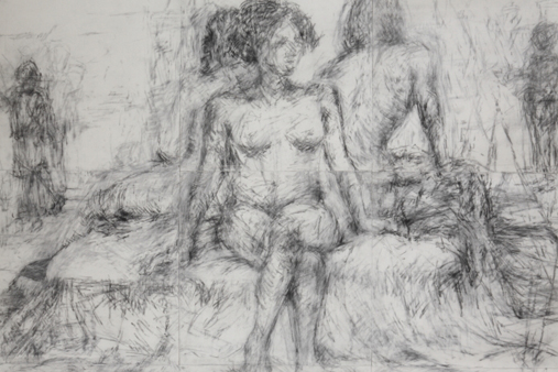 Melbourne artist Rebecca Jones - Artwork - Drawing - New York Drawings - Untitled (168cm x 168cm)