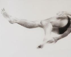 Melbourne artist Rebecca Jones - Artwork - Drawing - Swimming - Depth - Drifting