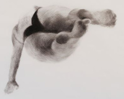 Melbourne artist Rebecca Jones - Artwork - Drawing - Swimming - Depth - Enduring
