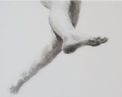 Melbourne artist Rebecca Jones - Artwork - Drawing - Swimming - Depth - Saturday Morning I