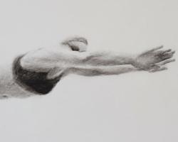 Melbourne artist Rebecca Jones - Artwork - Drawing - Swimming - Depth - Saturday Morning V
