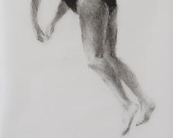 Melbourne artist Rebecca Jones - Artwork - Drawing - Swimming - Depth - Saturday Morning VII