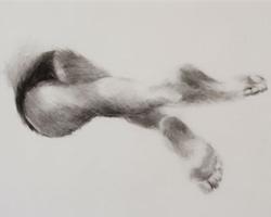 Melbourne artist Rebecca Jones - Artwork - Drawing - Swimming - Depth - Saturday Morning VIII