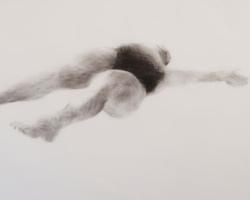 Melbourne artist Rebecca Jones - Artwork - Drawing - Swimming - Depth - Stretch