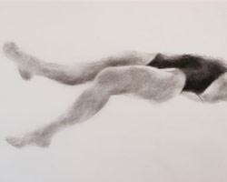 Melbourne artist Rebecca Jones - Artwork - Swimming - Depth - Vanishing