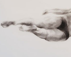 Melbourne artist Rebecca Jones - Artwork - Swimming - Depth - Whirling