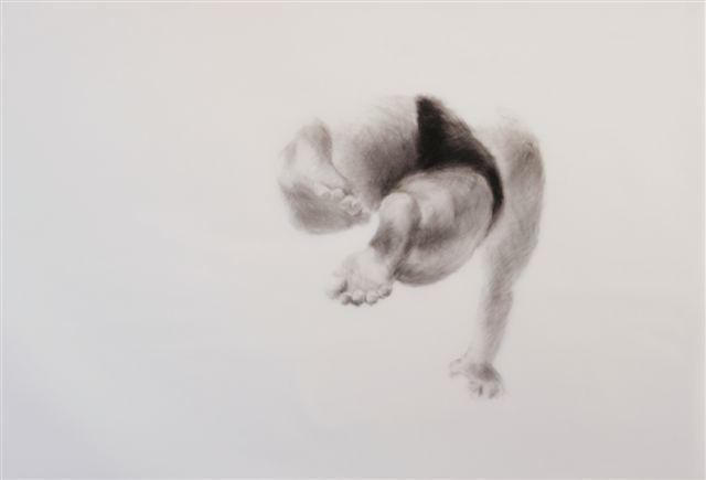 Melbourne artist Rebecca Jones - Artwork - Drawing - Swimming - Depth - Coast