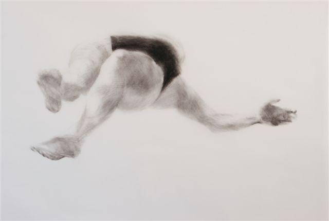 Melbourne artist Rebecca Jones - Artwork - Drawing - Swimming - Depth - Pertinacious