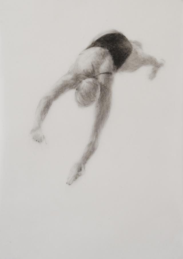 Melbourne artist Rebecca Jones - Artwork - Drawing - Swimming - Depth - Saturday Morning XI