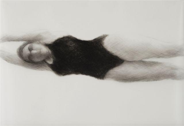 Melbourne artist Rebecca Jones - Artwork - Drawing - Swimming - Depth - Saturday Morning XV