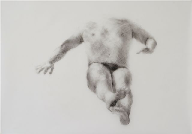 Melbourne artist Rebecca Jones - Artwork - Drawing - Swimming - Depth - Saturday Morning VI