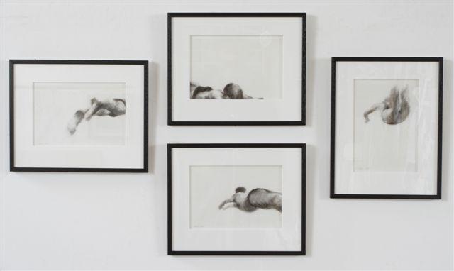 Melbourne artist Rebecca Jones - Artwork - Drawing - Swimming - Depth - Squad Series