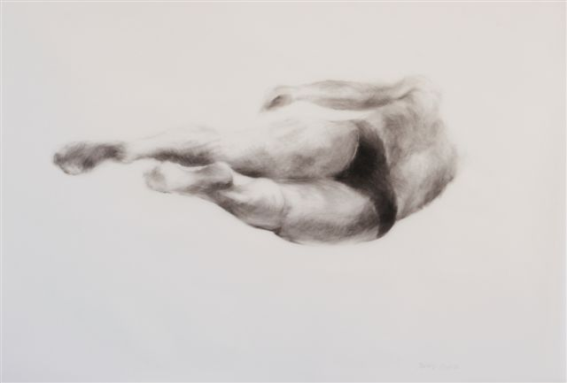 Melbourne artist Rebecca Jones - Artwork - Drawing - Swimming - Depth - Whirling