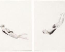 Melbourne artist Rebecca Jones - Artwork - Drawing - Swimming - Flow