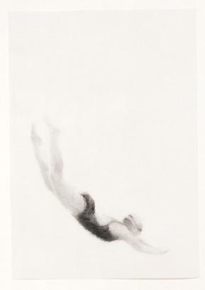 Melbourne artist Rebecca Jones - Artwork - Drawing - Swimming - Flow 1