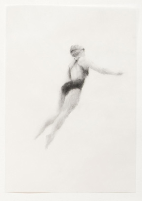 Melbourne artist Rebecca Jones - Artwork - Drawing - Swimming - Flow 9