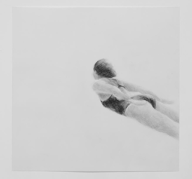 Melbourne artist Rebecca Jones's drawing - Under the Wave 6