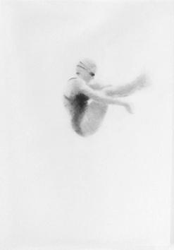Melbourne artist Rebecca Jones - Artwork - Drawing - Swimming - Tumbleturn 1