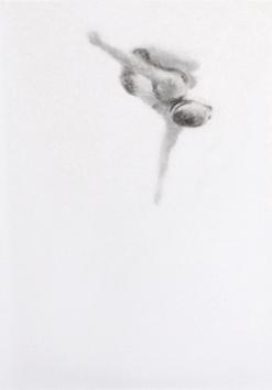 Melbourne artist Rebecca Jones - Artwork - Drawing - Swimming - Tumbleturn 2