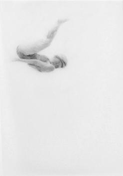 Melbourne artist Rebecca Jones - Artwork - Drawing - Swimming - Tumbleturn 3