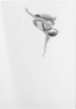 Melbourne artist Rebecca Jones - Artwork - Drawing - Swimming - Tumbleturn 5