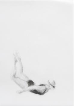 Melbourne artist Rebecca Jones's drawing - Swimming - Water 1