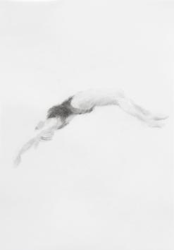 Melbourne artist Rebecca Jones's drawing - Swimming - Water 10