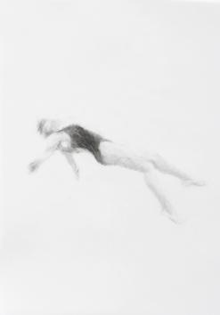 Melbourne artist Rebecca Jones's drawing - Swimming - Water 12