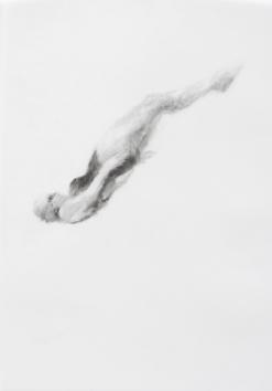 Melbourne artist Rebecca Jones's drawing - Swimming - Water 3