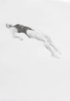 Melbourne artist Rebecca Jones's drawing - Swimming - Water 4