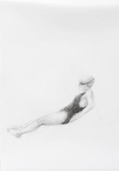 Melbourne artist Rebecca Jones's drawing - Swimming - Water 9