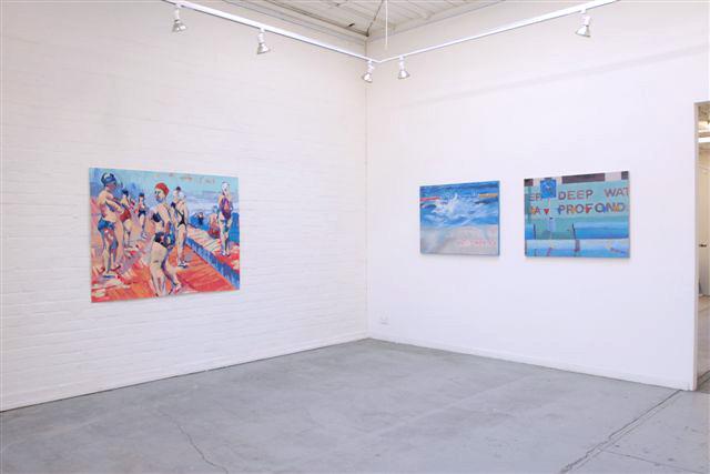 Melbourne artist Rebecca Jones - Exhibition - At the Pool (2008)