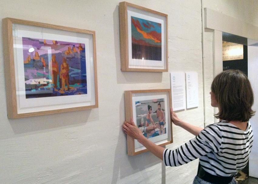 Melbourne artist Rebecca Jones - Exhibition - Dawn to Dusk (2014)