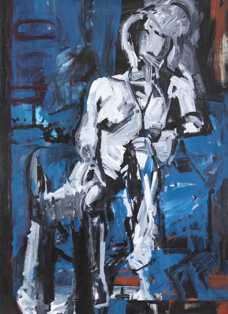 Melbourne artist Rebecca Jones - Artwork - Painting - Blue Matter