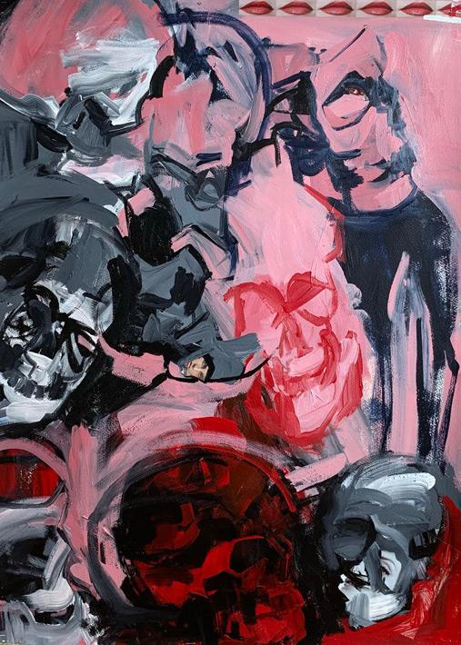 Melbourne artist Rebecca Jones - Artwork - Painting - Flesh and Bone